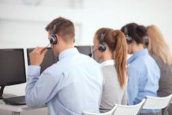 Group of customer service operators